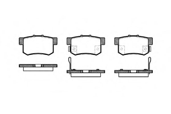 Комплект тормозных колодок, дисковый тормоз ROADHOUSE арт. 232512