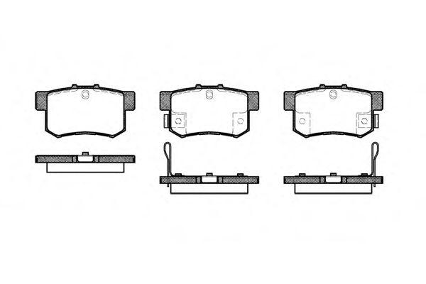 Комплект тормозных колодок, дисковый тормоз ROADHOUSE арт. 232522