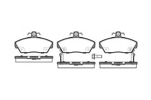 Комплект тормозных колодок, дисковый тормоз ROADHOUSE арт. 233002
