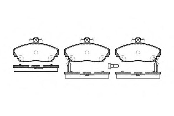 Комплект тормозных колодок, дисковый тормоз ROADHOUSE арт. 233702