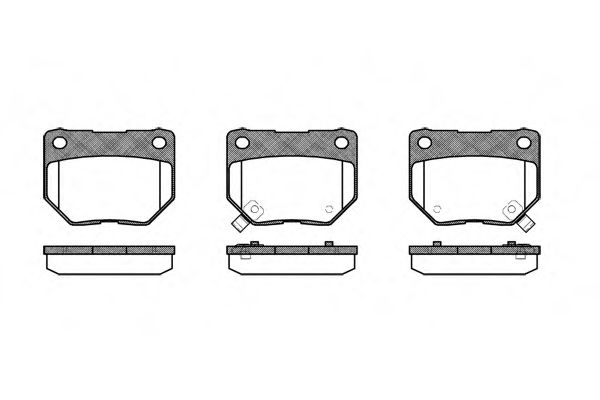 Комплект тормозных колодок, дисковый тормоз ROADHOUSE арт. 236502