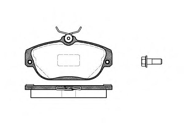 Комплект тормозных колодок, дисковый тормоз ROADHOUSE арт. 236810