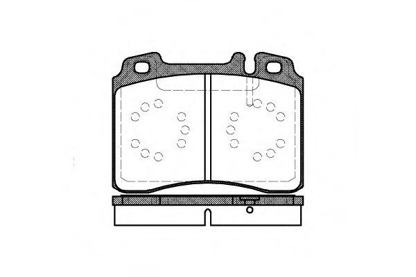 Комплект тормозных колодок, дисковый тормоз ROADHOUSE арт. 237900