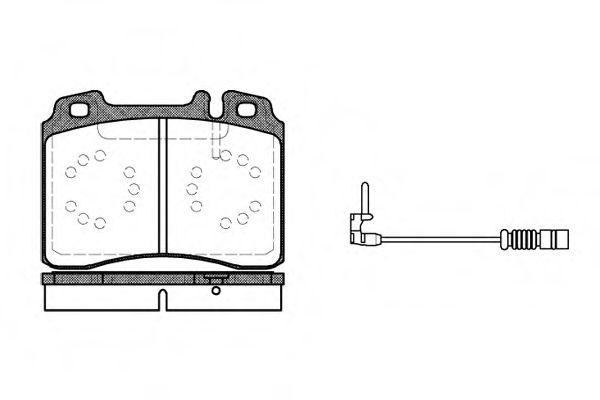 Комплект тормозных колодок, дисковый тормоз ROADHOUSE арт. 237912