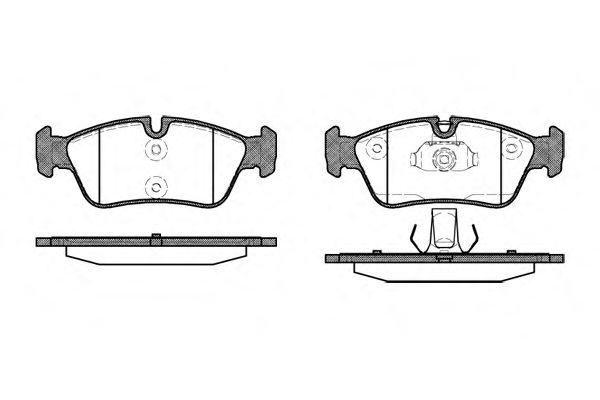 Комплект тормозных колодок, дисковый тормоз ROADHOUSE арт. 238440
