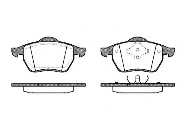 Комплект тормозных колодок, дисковый тормоз ROADHOUSE арт. 239000