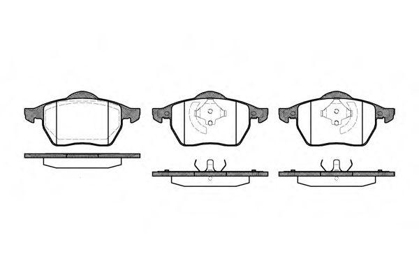 Комплект тормозных колодок, дисковый тормоз ROADHOUSE арт. 239020
