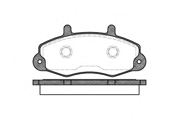 Комплект тормозных колодок, дисковый тормоз ROADHOUSE арт. 239100