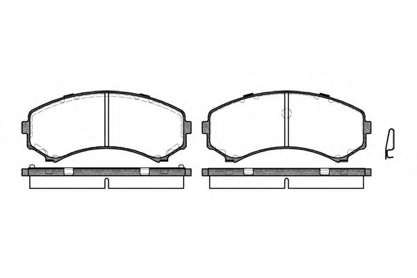 Комплект тормозных колодок, дисковый тормоз ROADHOUSE арт. 239600