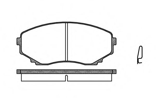 Комплект тормозных колодок, дисковый тормоз ROADHOUSE арт. 239700
