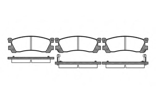 Комплект тормозных колодок, дисковый тормоз ROADHOUSE арт. 239912