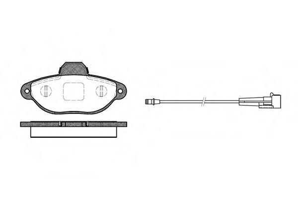 Комплект тормозных колодок, дисковый тормоз ROADHOUSE арт. 241401
