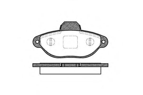 Комплект тормозных колодок, дисковый тормоз ROADHOUSE арт. 241420