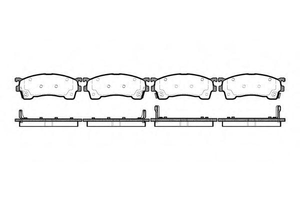 Комплект тормозных колодок, дисковый тормоз ROADHOUSE арт. 241504