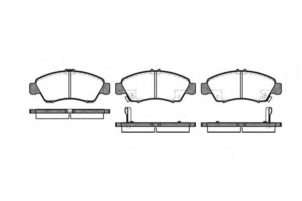 Комплект тормозных колодок, дисковый тормоз ROADHOUSE арт. 241902