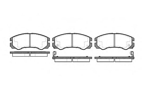 Комплект тормозных колодок, дисковый тормоз ROADHOUSE арт. 242502