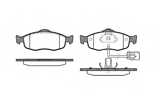 Комплект тормозных колодок, дисковый тормоз ROADHOUSE арт. 243202