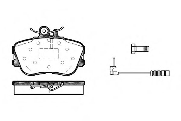 Комплект тормозных колодок, дисковый тормоз ROADHOUSE арт. 244502