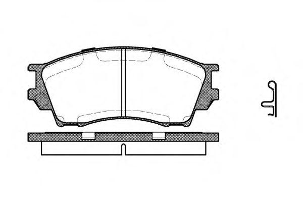 Комплект тормозных колодок, дисковый тормоз ROADHOUSE арт. 249100