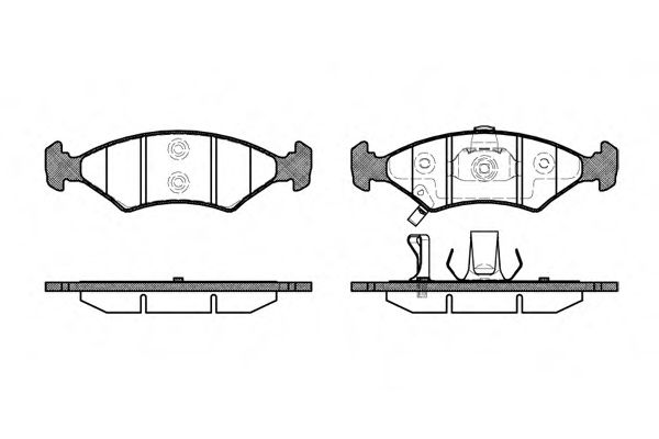 Комплект тормозных колодок, дисковый тормоз ROADHOUSE арт. 250222