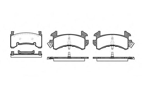Комплект тормозных колодок, дисковый тормоз ROADHOUSE арт. 251500
