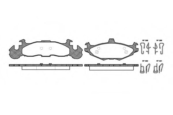 Комплект тормозных колодок, дисковый тормоз ROADHOUSE арт. 251900