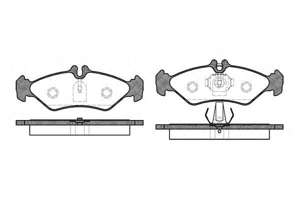 Комплект тормозных колодок, дисковый тормоз ROADHOUSE арт. 257900