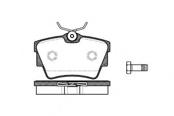 Комплект тормозных колодок, дисковый тормоз ROADHOUSE арт. 259110