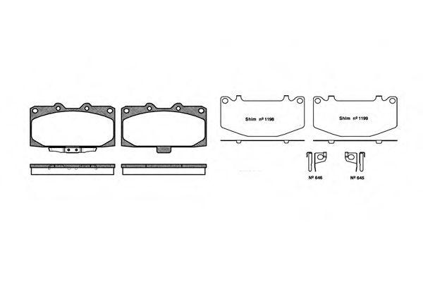 Комплект тормозных колодок, дисковый тормоз ROADHOUSE арт. 259912