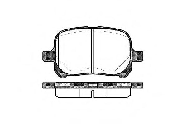 Комплект тормозных колодок, дисковый тормоз ROADHOUSE арт. 262100