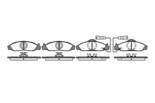 Комплект тормозных колодок, дисковый тормоз ROADHOUSE арт. 262402