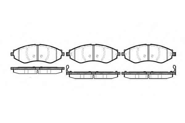 Комплект тормозных колодок, дисковый тормоз ROADHOUSE арт. 264522