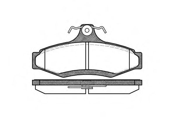 Комплект тормозных колодок, дисковый тормоз ROADHOUSE арт. 264610