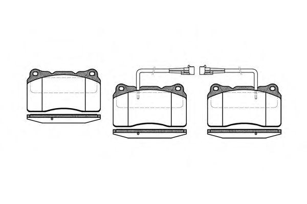 Комплект тормозных колодок, дисковый тормоз ROADHOUSE арт. 266602