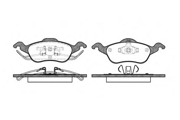 Комплект тормозных колодок, дисковый тормоз ROADHOUSE арт. 269100
