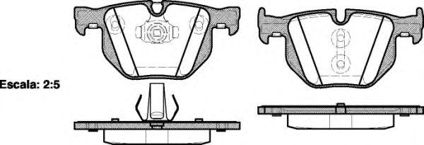 Комплект тормозных колодок, дисковый тормоз ROADHOUSE арт. 238161