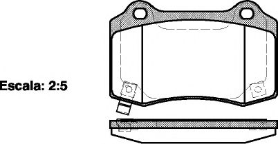 Комплект тормозных колодок, дисковый тормоз ROADHOUSE арт. 243454