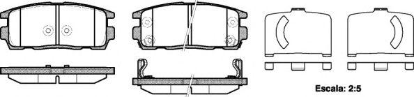 Комплект тормозных колодок, дисковый тормоз ROADHOUSE арт. 2126012