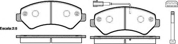 Комплект тормозных колодок, дисковый тормоз ROADHOUSE арт. 2127501