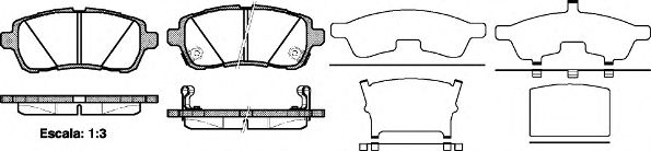 Комплект тормозных колодок, дисковый тормоз ROADHOUSE арт. 2128102