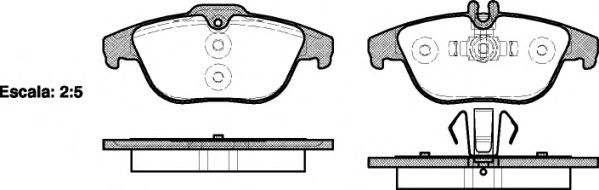 Комплект тормозных колодок, дисковый тормоз ROADHOUSE арт. 2130500