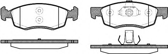 Комплект тормозных колодок, дисковый тормоз ROADHOUSE арт. 217232