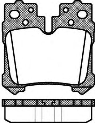 Комплект тормозных колодок, дисковый тормоз ROADHOUSE арт. 2132100
