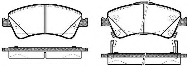 Комплект тормозных колодок, дисковый тормоз ROADHOUSE арт. 2134112