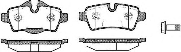 Комплект тормозных колодок, дисковый тормоз ROADHOUSE арт. 2134400