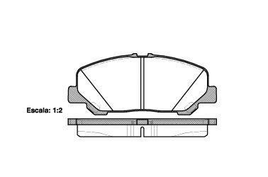 Комплект тормозных колодок, дисковый тормоз ROADHOUSE арт. 2128700