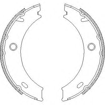 Комплект тормозных колодок, стояночная тормозная система ROADHOUSE арт.