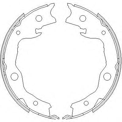 Комплект тормозных колодок, стояночная тормозная система ROADHOUSE арт. 475200