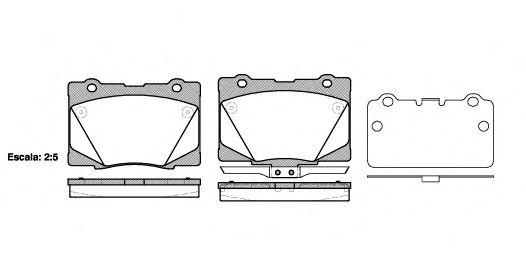 Комплект тормозных колодок, дисковый тормоз ROADHOUSE арт. 2142202