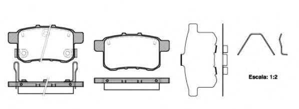 Комплект тормозных колодок, дисковый тормоз ROADHOUSE арт. 2133212